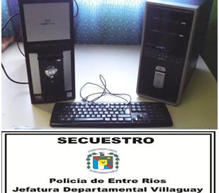 RECUPERAN PC ROBADA EN ESCUELA Nº 36 HERRERA